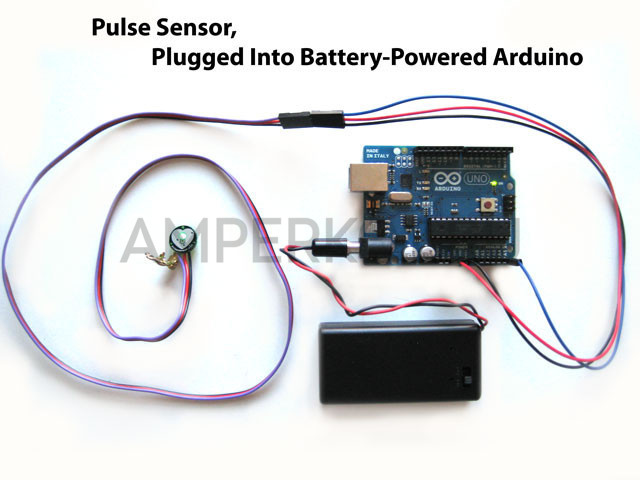 Heart rate and temperature sensor by fingertip using Arduino
